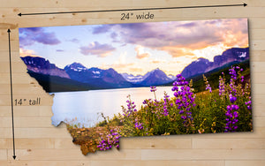 "Lake Sherburne at Glacier National Park - Medium - 24"" x 14"""