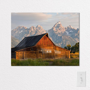 Wyoming State Shaped Metal Print on White Wall