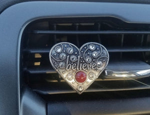 Believe Car Vent Clip - Gypsy and the Wolf