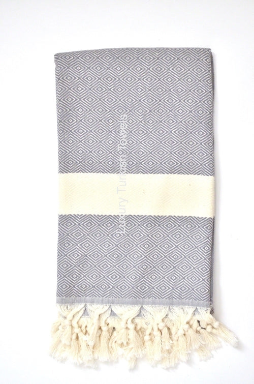 Diamond Turkish Towel - Dark Grey - Gypsy and the Wolf