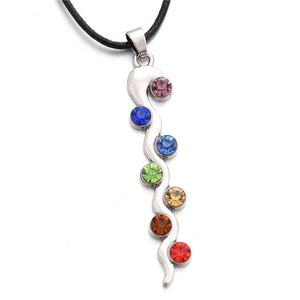 Hot Sale 7 Chakras Reiki Pendants Necklace Women - Gypsy and the Wolf