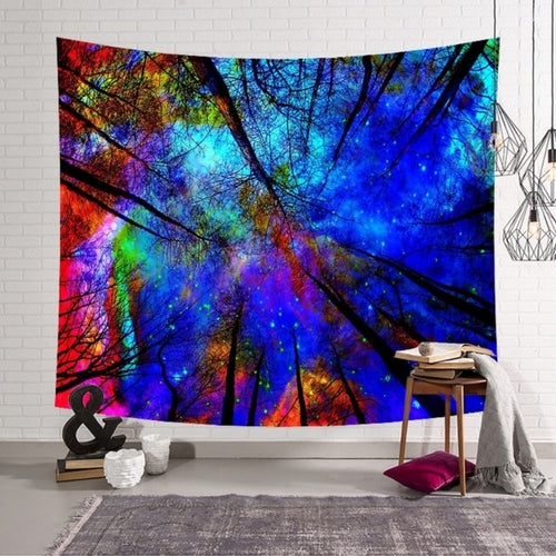 Nordic Deep Wall Hanging Tapestry Mandala Cloth - Gypsy and the Wolf