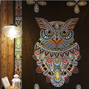 Owl Totem Wall Tapestry - Gypsy and the Wolf