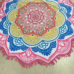 Indian Lotus Totem Tapestries Blanket Yoga Mat - Gypsy and the Wolf