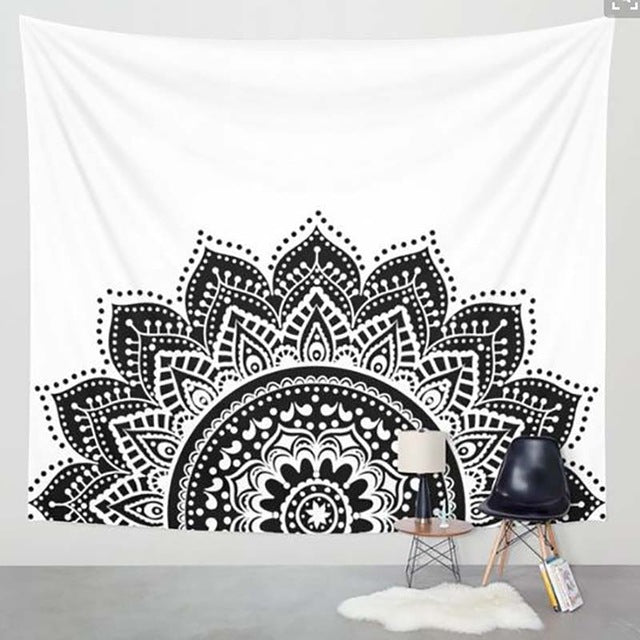 Mandala table cloth, wall cloth, wearable blanket - Gypsy and the Wolf