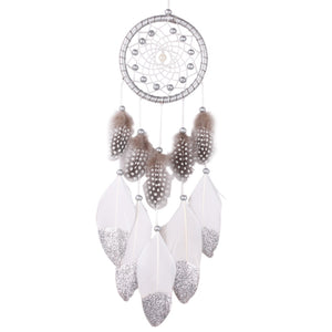 Silver Beads Dream Catcher - Gypsy and the Wolf