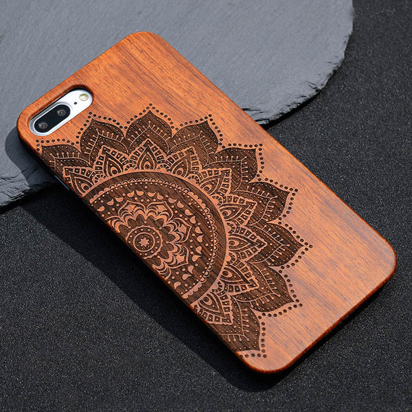 Mandala Bamboo Phone Cover - Iphone and Samsung - Gypsy and the Wolf