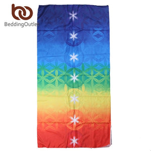 7 Chakra Rainbow Stripes Yoga Mat - Gypsy and the Wolf