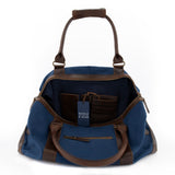 Weekender Willow Canvas Blau geöffnet Innenfutter Blau