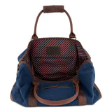 Weekender Willow Canvas Blau geöffnet Innenfutter Stripes