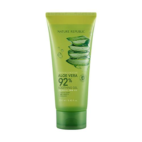 [NATURE REPUBLIC] Soothing & Moisture Aloe Vera 92% Soothing Gel (Tube), 250ml - beautique-online