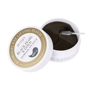 [PETITFEE] Black Pearl & Gold Hydrogel Eye Patch, 60 sheet - beautique-online