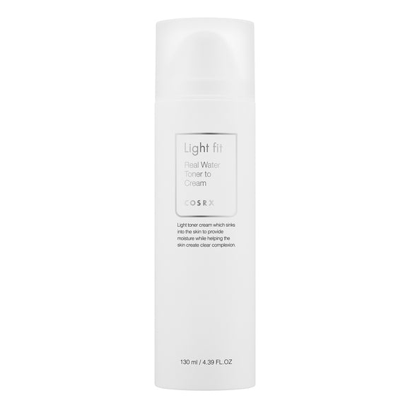 [Cosrx] Light Fit Real Water Toner To Cream, 130 ml - beautique-online