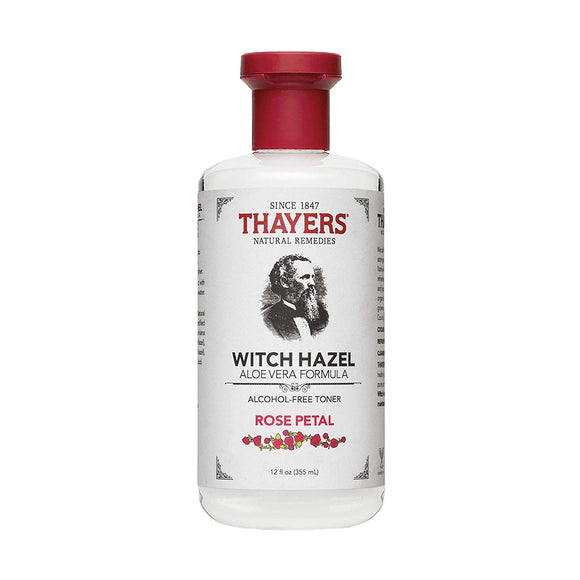 [THAYERS] Witch Hazel Alcohol Free Toner, Rose Petal - 12oz, 355 ml - beautique-online
