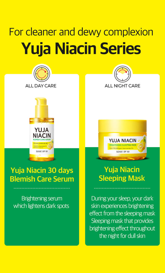 [SOME BY MI] Yuja Niacin Brightening Sleeping Mask / Blemish Care Serum-60g/50ml