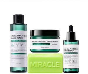 [SOME BY MI] AHA BHA PHA 30 Days Miracle Toner + Miracle Cream + Miracle Serum + Cleansing Bar - beautique-online