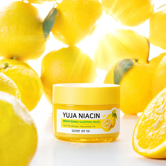 [Some By Mi] Yuja Niacin Brightening Sleeping Mask, 60 g ***Free delivery with code FDYUJA