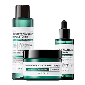 [SOME BY MI] AHA BHA PHA 30 Days Miracle Toner + Miracle Serum + Miracle Cream - beautique-online