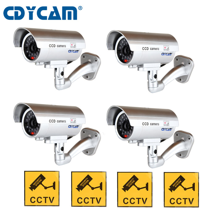 2pcs 4pcs Fake Dummy Camera outdoor Indoor Waterproof Bullet Camera  Security camera Simulation Dummy CCTV video Surveillance