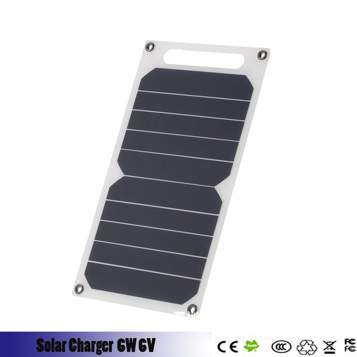 buy popular 15aa8 e7f5f 6W 6V Waterproof Solar Power Panel External Backup Battery Charger Outdoor  For Cell Phone Battery Charger Charging