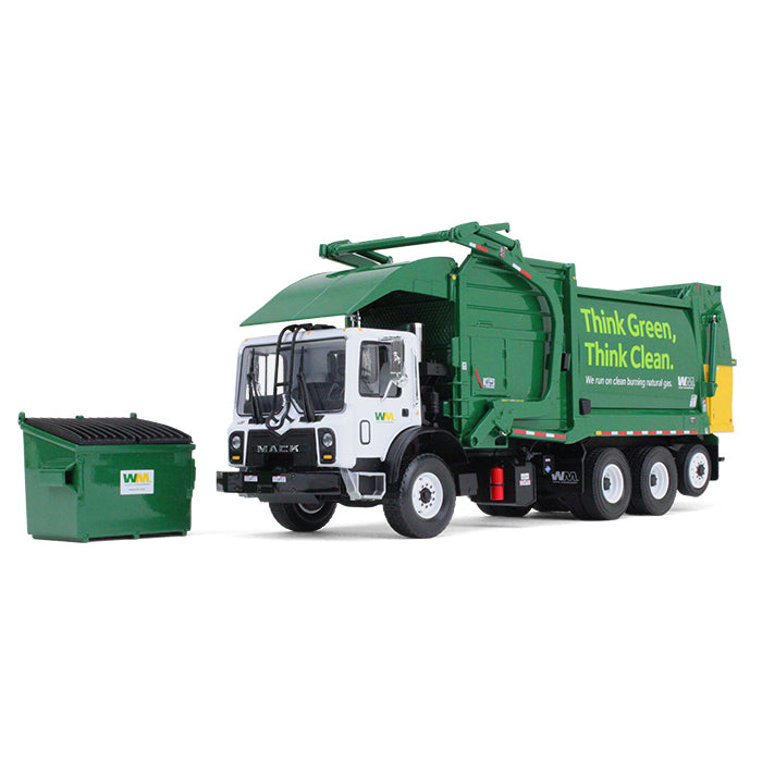 Mack TerraPro w/ Heil Half/Pack Freedom Front End Loader & CNG Tailgate + Bin 1:34 Scale Diecast Model - First Gear 10-4006