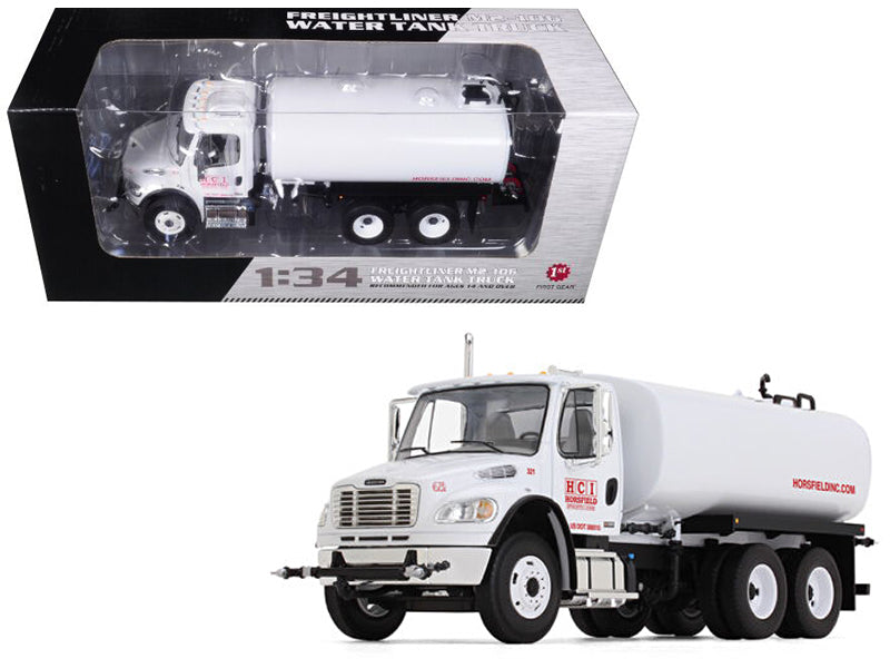 Freightliner M2-106 Water Tank Truck Horsfield Construction (HCI) 1/34 Diecast Model - First Gear - 10-4105