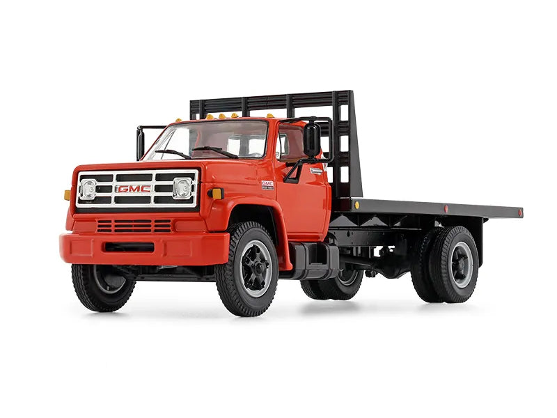 1970's GMC 6500 Flatbed Truck Orange 1:34 Scale Diecast Model - First Gear 10-4218