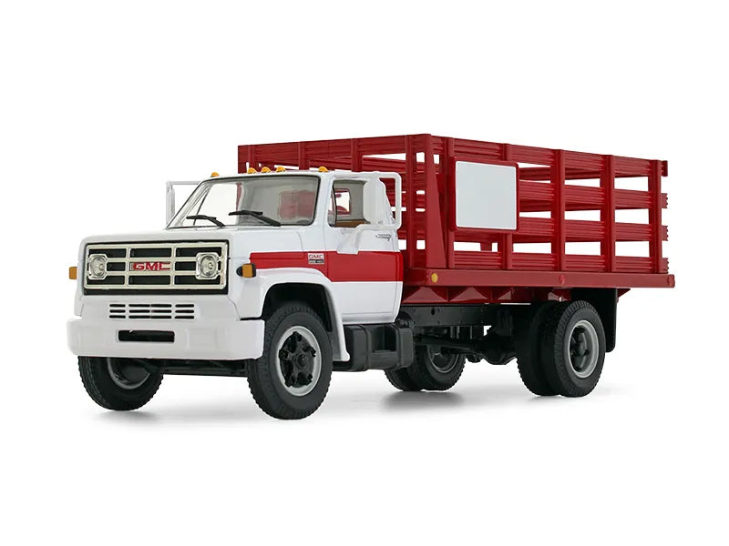 1970's GMC 6500 Stake Truck Red/White 1:34 Scale Diecast Model - First Gear 10-4220