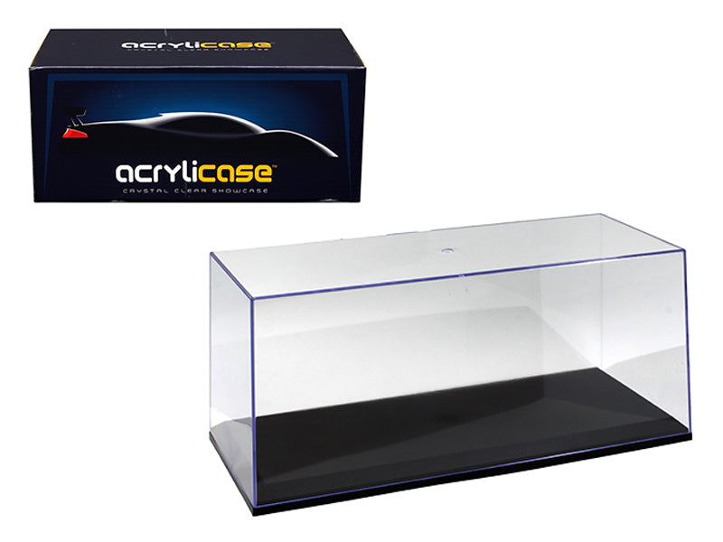 COLLECTABLE DISPLAY SHOW CASE WITH LED LIGHTS 1//18 WITH WHITE BASE 14005