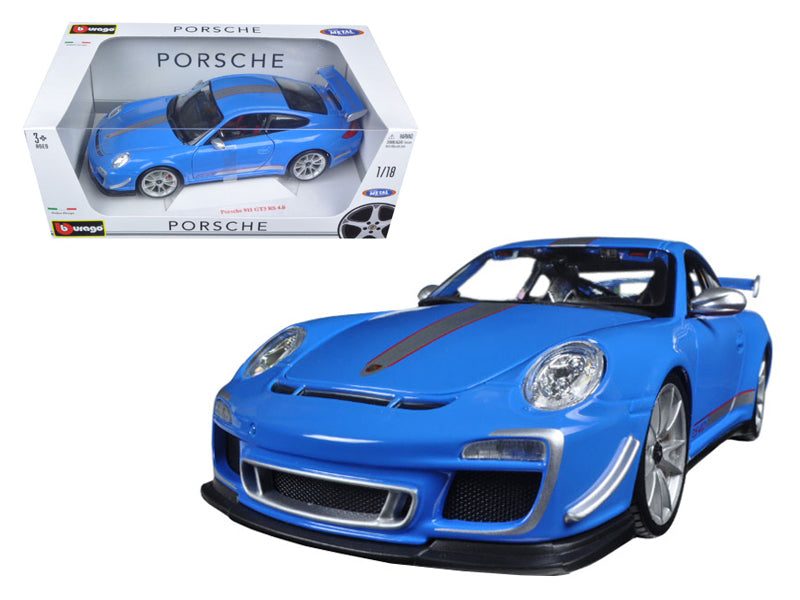 Porsche 911 GT3 RS 4.0 Diecast Model 1:18 Blue - Bburago - 11036BL