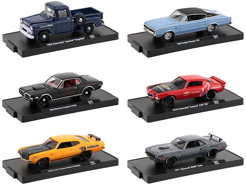 """Auto-Drivers"" Release 66 Set of 6 pieces in Blister Packs 1:64 Diecast Model Cars - M2 Machines 11228-66"