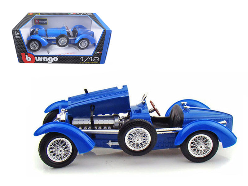 1934 Bugatti Type 59 Blue 1/18 Diecast Model Car - Bburago - 12062BL
