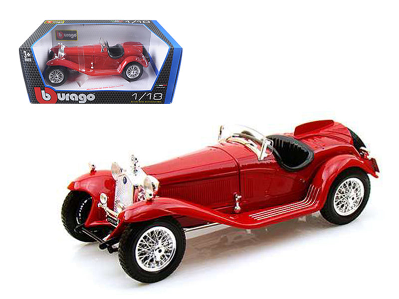 1932 Alfa Romeo 8C 2300 Spider Touring Red 1:18 Diecast Model Car - Bburago - 12063RD
