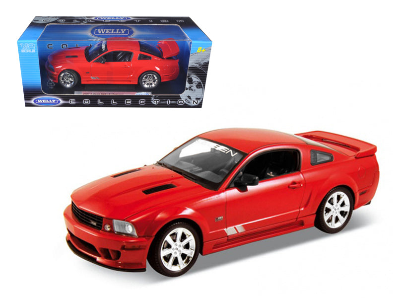 2007 Ford Mustang Saleen S281E Red 1:18 Diecast Model Car - Welly - 12569RD