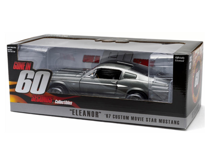 Greenlight 1967 Ford Mustang Shelby GT500 Eleanor Gone in 60 Seconds 1:18  Diecast
