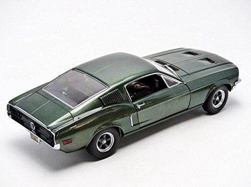 1968 Ford Mustang GT Fastback Bullitt Highland Green 1:18 Model -  Greenlight - 12938