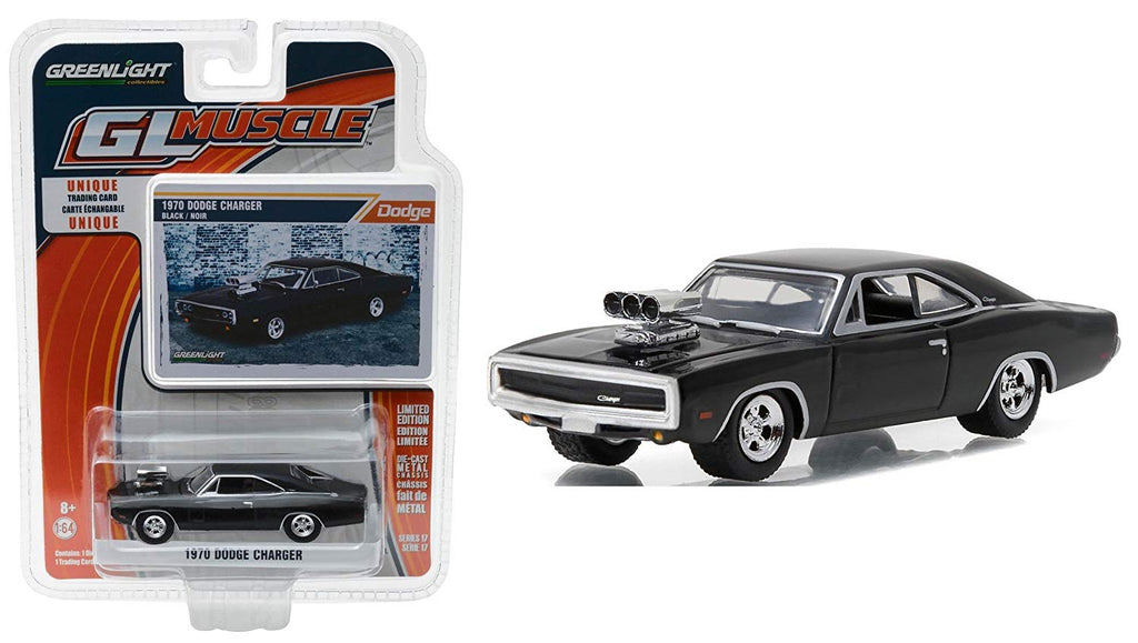 1970 Dodge Charger w/ Blower Muscle Series 17 1:64 Scale Diecast Car - Greenlight - 13170B