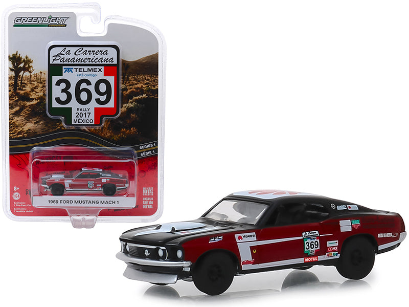 "1969 Ford Mustang Mach 1 #369 (Rally Mexico 2017) ""La Carrera Panamericana"" Series 1 1:64 Diecast Model Car - Greenlight - 13240D"