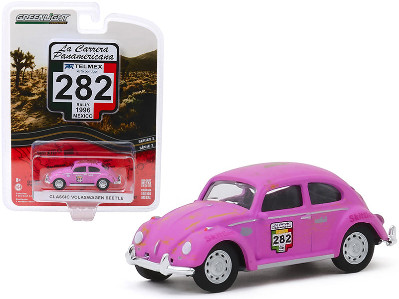 "Classic Volkswagen Beetle #282 ""Skittles"" (Rally Mexico 1996) ""La Carrera Panamericana"" Series 2 Diecast 1:64 Model Car - Greenlight 13260F"