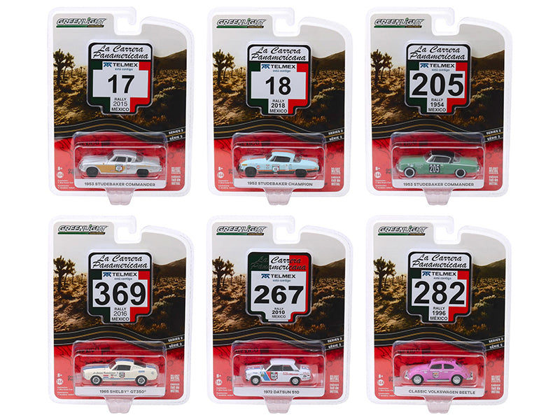 """La Carrera Panamericana"" Series 2, Set of 6 pieces 1:64 Diecast Model Cars - Greenlight 13260"