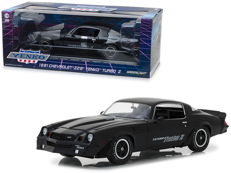 1981 Chevrolet Z28 Yenko Turbo Z Black 1:18 Diecast Model Car - Greenlight - 13159