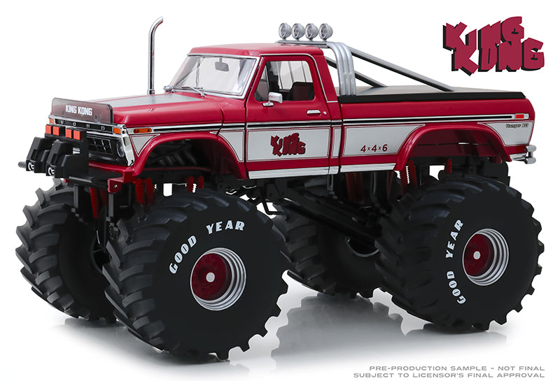 "King Kong 1975 Ford F-250 Monster Truck with 66"" Tires ""Kings of Crunch"" 1:18 Diecast Model - Greenlight - 13539"