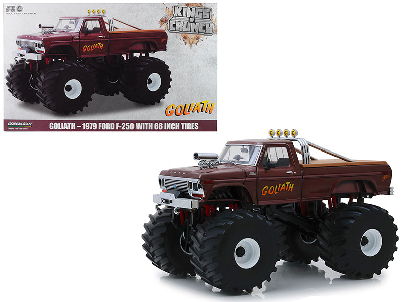 "1979 Ford F-250 Ranger Monster Truck with 66-Inch Tires ""Goliath"" ""Kings of Crunch"" 1/18 Diecast Model Car - Greenlight - 13540"