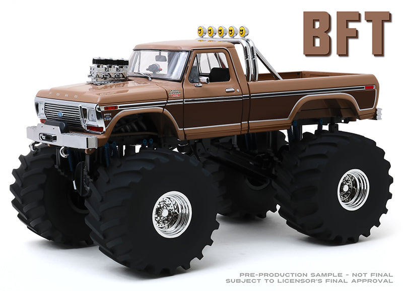 "BFT 1978 Ford F-350 Monster Truck with 66"" Tires ""Kings of Crunch"" 1:18 Diecast Model - Greenlight - 13557"
