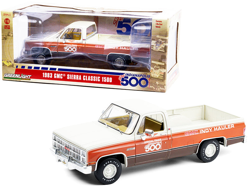 "1983 GMC Sierra Classic 1500 Pickup Truck ""67th Annual Indianapolis 500 Mile Race"" Official Truck 1:18 Diecast Model Car - Greenlight 13564"