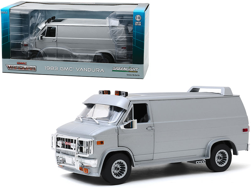1983 GMC Vandura Van Custom Silver Metallic 1:18 Diecast Model Car - Greenlight 13568
