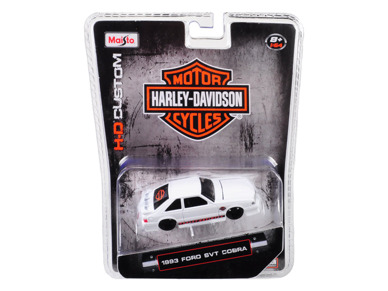 1993 Ford SVT Cobra White Harley Davidson 1:64 Diecast Model - Maisto - 15414HD2