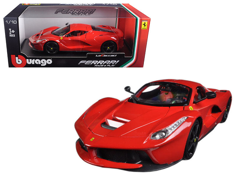 Ferrari LaFerrari F70 Red with Black Wheels 1:18 Diecast Model Car - Bburago - 16001RD