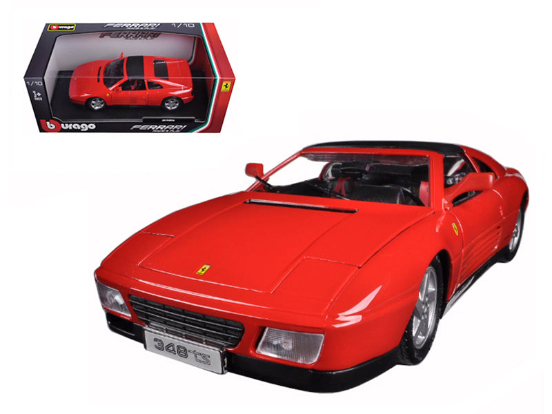 Ferrari 348TS, Red 1/18 scale Diecast Model Toy Car - Bburago - 16006