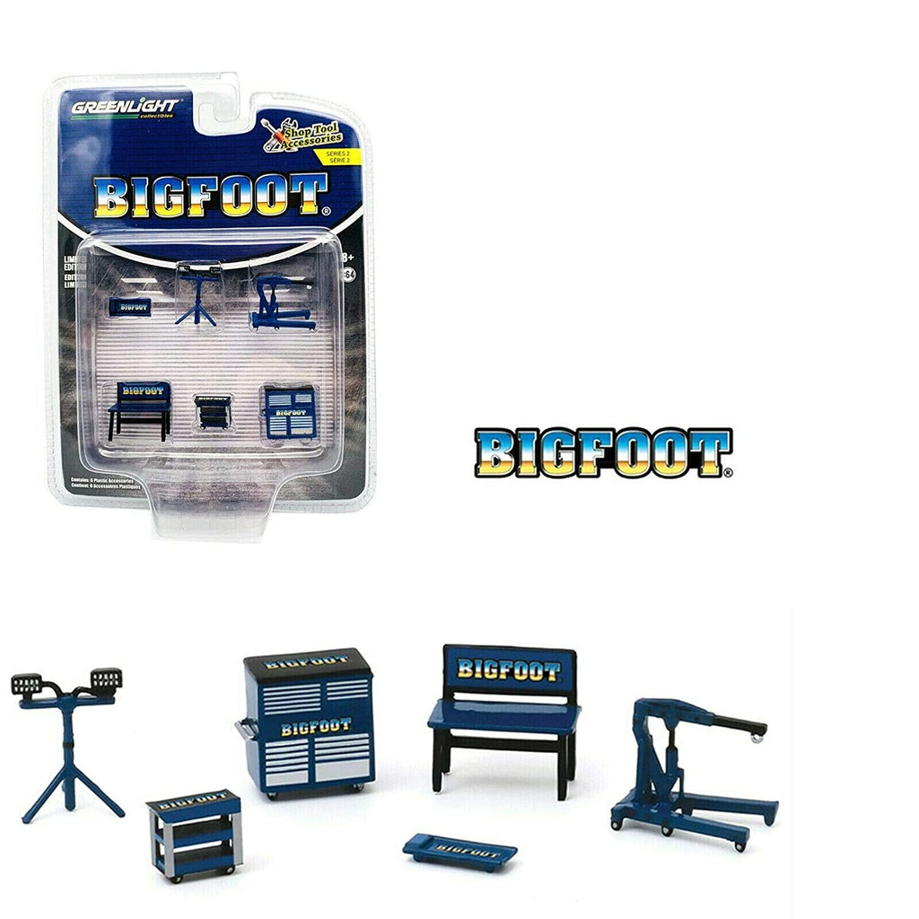 Shop Tool Accessories Series 2 - Bigfoot Monster Truck Auto Body Shop 1:64 Models - Greenlight 16040A